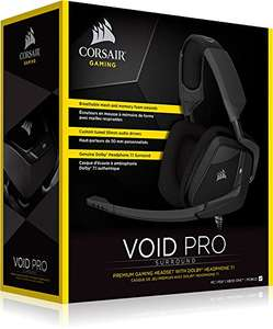 Corsair VOID PRO RGB Analog USB Dolby 7.1 Gaming Headset - Carbon @ Amazon - £59.99 (Lightning Deal)