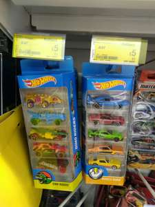 Hot Wheels 5-pack Diecast Cars Assortment Reduced from £8.97 to £5 @ Asda (In-store deal)