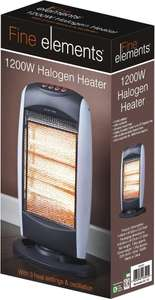Fine Elements 1200W Revolving Halogen Heater - £10@  Poundland & More