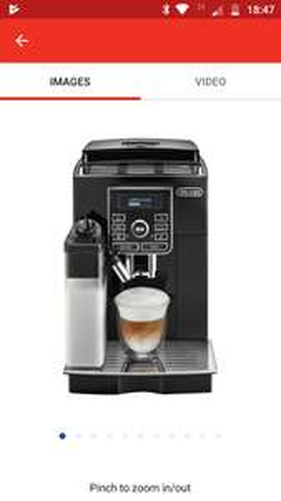 De'Longhi ECAM25 Bean to cup coffee machine £499.99 @ Argos