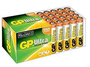 GP Batteries Ultra High Performance Alkaline AAA Battery - Chrome/Black/Red (Pack of 24) - £6.19 @ Sold by Batteries / Fulfilled by Amazon Prime / £10.18 non-Prime