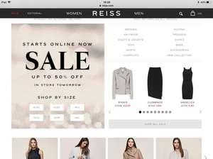 Reiss sale preview online today starts in store tomorrow - up to 50% off