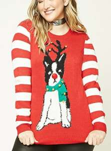 50% off Christmas jumpers + extra 15% off w/code + free delivery over £21 @ Forever 21
