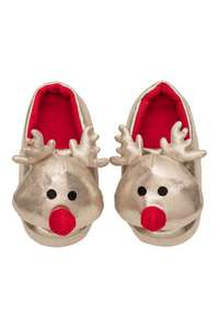 GOLD Reindeer slippers @ H&M, Free Delivery - £5.99