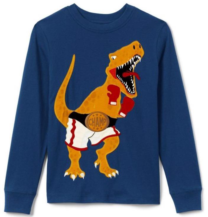 Lands End boys dinosaur sweatshirt £8.91 collection/£12.94 delivered w/code @ Debenhams