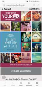 Marriott rewards members up to 25% off advance bookings UK hotel stays