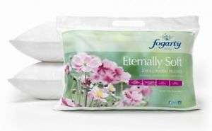 Fogarty Eternally Soft Pillow Pack of 2 Hollowfibre Non-Allergenic Pillows ebay Free Delivery £14.95 @ U-Storess-Shop ebay