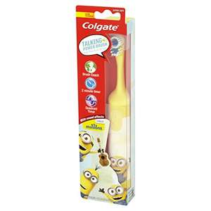 Colgate Minions Talking Extra Soft Battery Toothbrush - £4.99 - Amazon UK Prime Members
