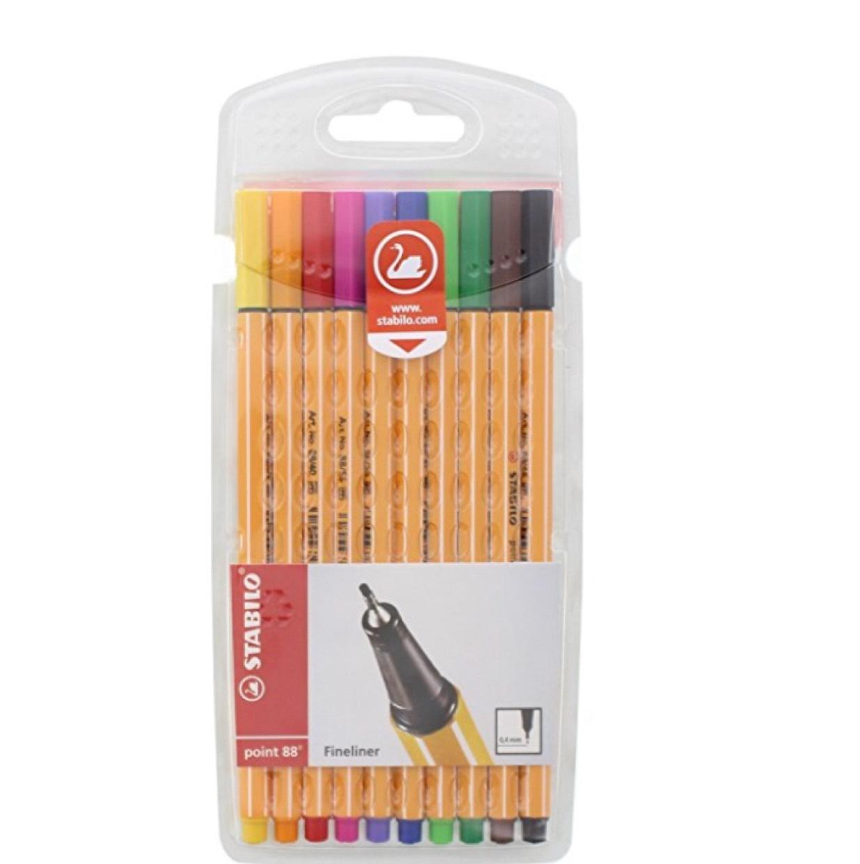 STABILO point 88 Fineliner, Multi-Colour, Wallet of 10 - £3.65 (Prime) £7.64 (Non Prime) @ Amazon