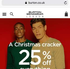 25% off Everything - Online Only @ Burton