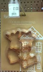 Set of 5 copper coloured metal Christmas Cookie Cutters £1.00 @ Poundworld Plus
