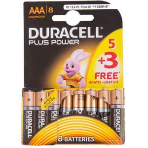 Duracell plus AAA 8 batteries @ poundstretcher instore for £2.99