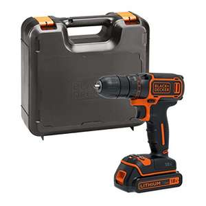 BLACK+DECKER 18 V Lithium-Ion Drill Driver with Kit Box £35.89 deliv with Prime @ Amazon
