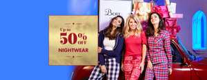 Up to 50% off nightwear + free delivery @ Boux Avenue
