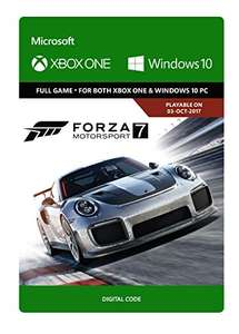 Forza Motorsport 7: Standard Edition  Xbox One/Windows 10 - Download Code is £24.49 from Amazon.co.uk