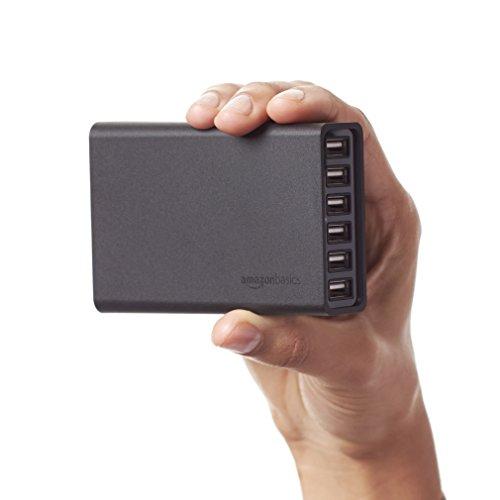 AmazonBasics 60W 6-Port USB Charger - Black, £14.44 prime / £18.43 non prime @ Amazon