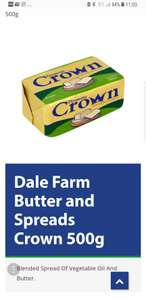 Crown 500g butter - £1 @ Poundland