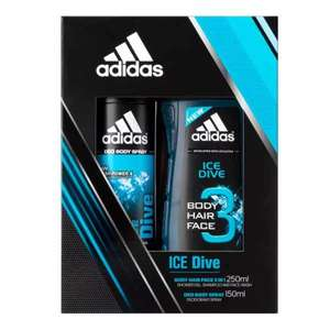 Adidas Ice Dive & Pure Game Duo Body Spray & Shower Gel was £6, now £2 @ superdrug, free c&c , beauty card members free delv on £10 (buy it instore with nus card and get it for £1.80)