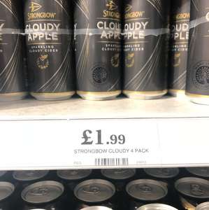 4 x Strongbow Cloudy Apple instore at Home Bargains for £1.99