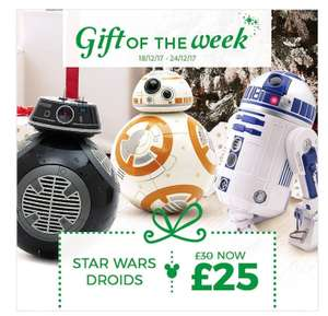 Star wars Gift of the week 25% off Droids @ The Disney Store