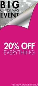 M&co 20% off everything