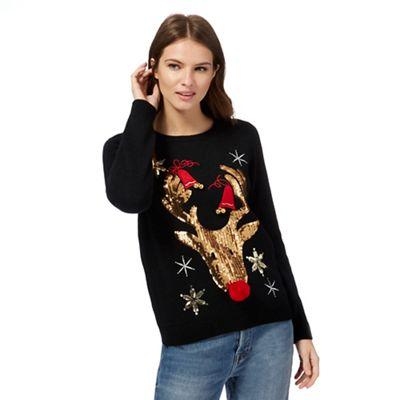 Gold Reindeer Jumper - Half Price in store & online £14 @ Debenhams