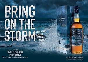 Talisker Storm Single Malt Scotch Whisky 70cl  45.8 ABV. £30 @ Amazon