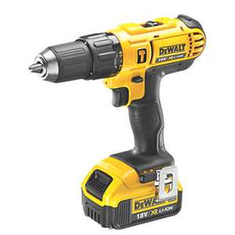 The DeWalt DCD776M1T-GB 18V 4.0Ah Li-ion cordless comdi drill at Screwfix for £109.99