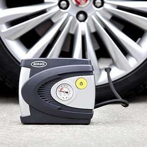 Ring RAC610 Analogue Tyre Inflator, 12V Air Compressor Tyre Pump, 4.5 Min Tyre Inflation, Valve Adaptors £9.99 prime / £14.74 non prime @ Amazon