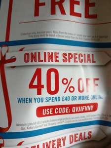 40% off when you spend £40+ online - Domino's Online Special