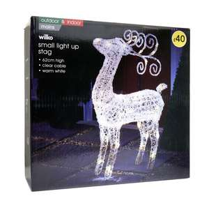 Wilko acrylic outdoor led reindeer now half price £15