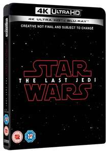 Star Wars: The Last Jedi (4K Ultra HD + Blu-ray) [UHD] - @Zoom.co.uk £22.49 with discount code SIGNUP10 + 4.04% cashback at TCB