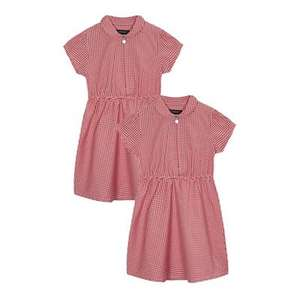 Twin-pack girls red/green gingham dresses from £3.90 (free c&c w/code SH4R) @ Debenhams