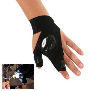 Flashlight Glove with 2 LED Lights 71p delivered w/code @ Zapals
