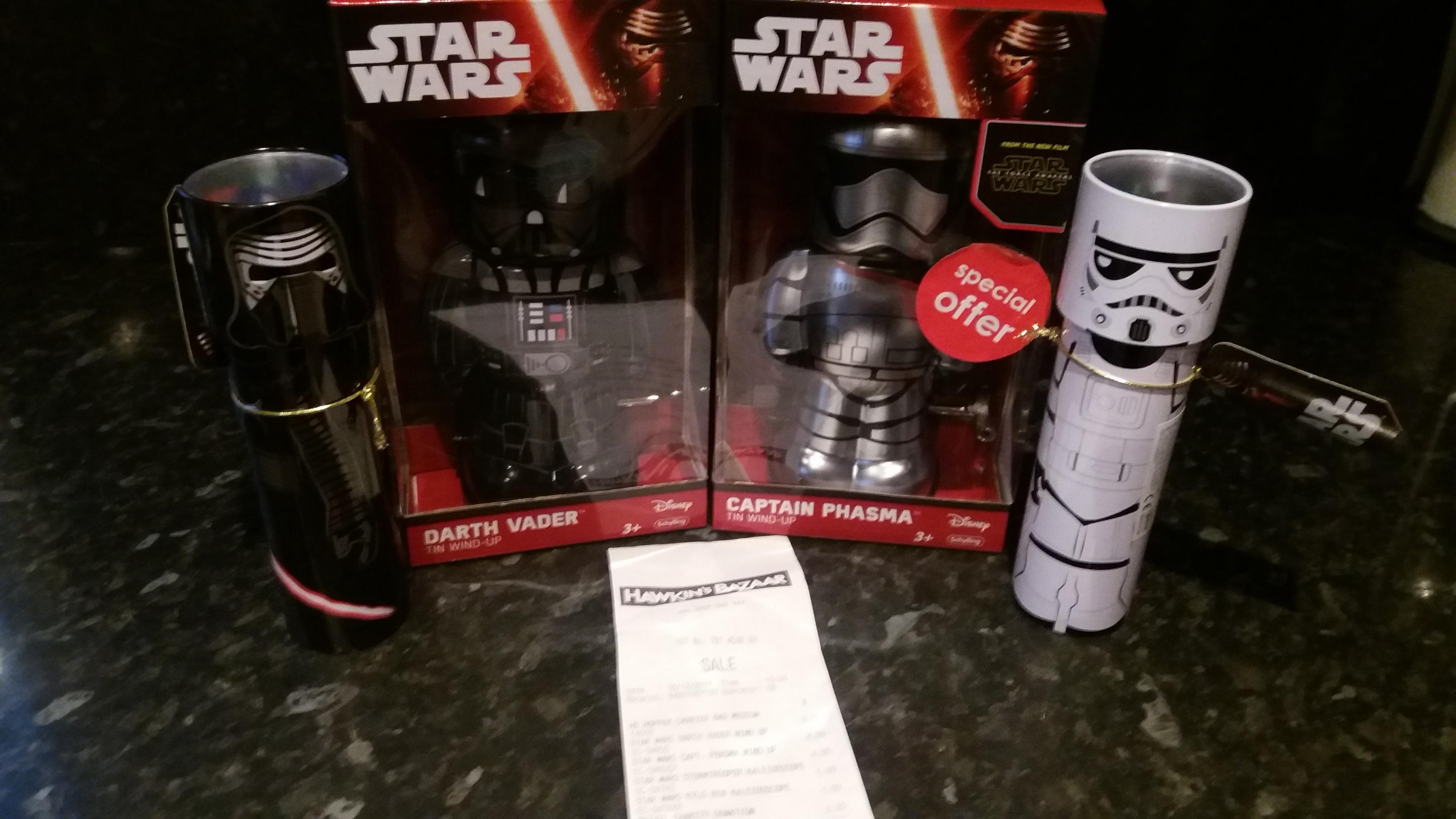 """7"""" star wars tin wind up £5 in-store Hawkins Bazaar"""