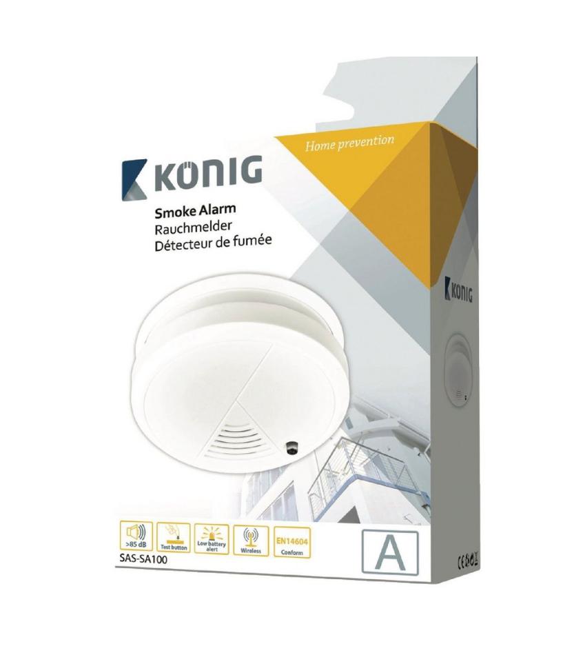 Konig Smoke Alarm With One Year Battery Life ( last few in store) £1.50 @ maplin