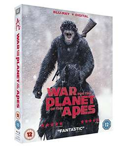 WAR FOR THE PLANET OF THE APES (2017) - BLU RAY + UV copy (lightning deal)  £10.79 at Amazon (Prime members) / £12.78 non prime