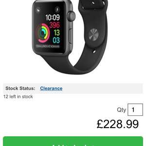Apple Watch series 1 42mm £228.99 / £232.48 delivered @ BT