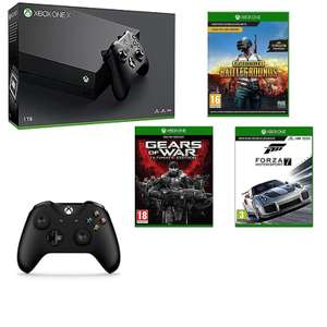 Now live -  Xbox One X Console + Extra Controller, PUBG, Forza 7, Gears of War Ultimate, £469.99 @ GAME