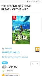 Zelda breath of the wild Nintendo switch £44.95 @ TGC
