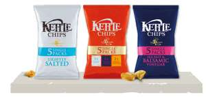 Kettle Chips - 5 x 30g packs for £1.60 or 3 for £3 in-store and online @ Asda