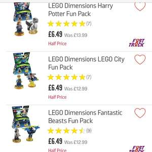 Lego dimension fun packs £6.49 @ Argos