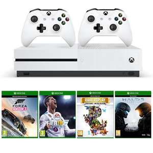 Xbox One S 1TB Mega Bundle with 4 Games inc FIFA 18 / Forza)  + Additional Controller - £289.99 @ Smyths