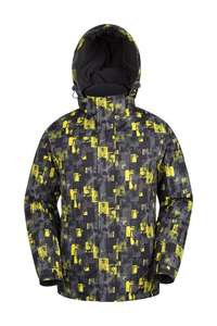 Shadow Mens Printed Ski Jacket - in ORANGE [Looks more red.] - £23.99 @ Mountain Warehouse