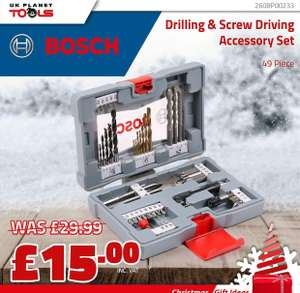 Bosch 2608P00233 Premium Drilling & Screwdriving Accessory Set 49 Pieces £20 delivered