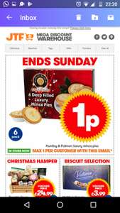 JTF 1p deal. Box of mince pies