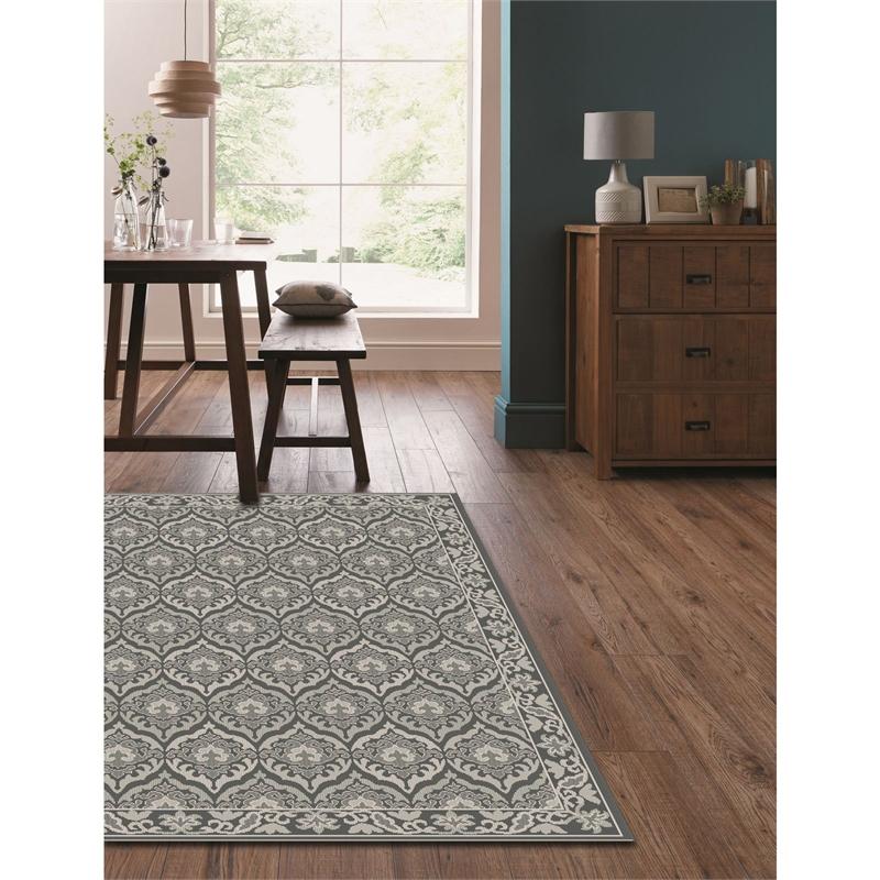 Ava flatweave grey rug 120cm× 160cm £10 @ homebase