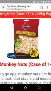 Monkey nuts 14 x 350g @ home bargains £11.06
