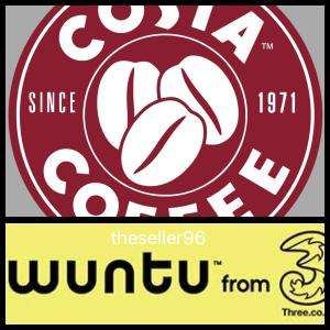 Free Costa Drink + Costa Coffee Points - WUNTU Three
