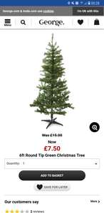 Half Price Christmas Trees at Asda from £3